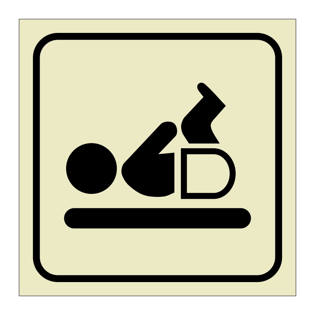 Baby Changing Room (Marine Sign)