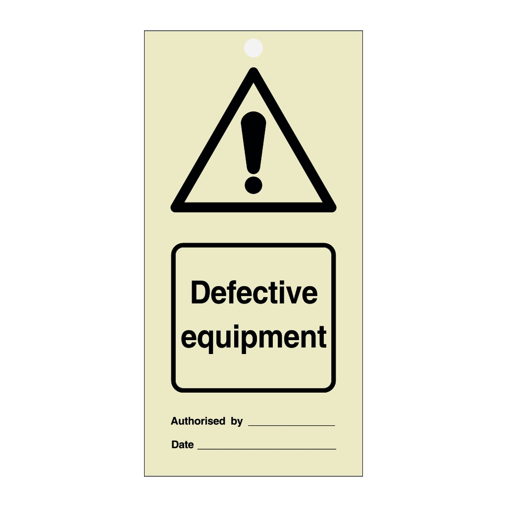 Defective Equipment Tie Tag Pack of 10 (Marine Sign)