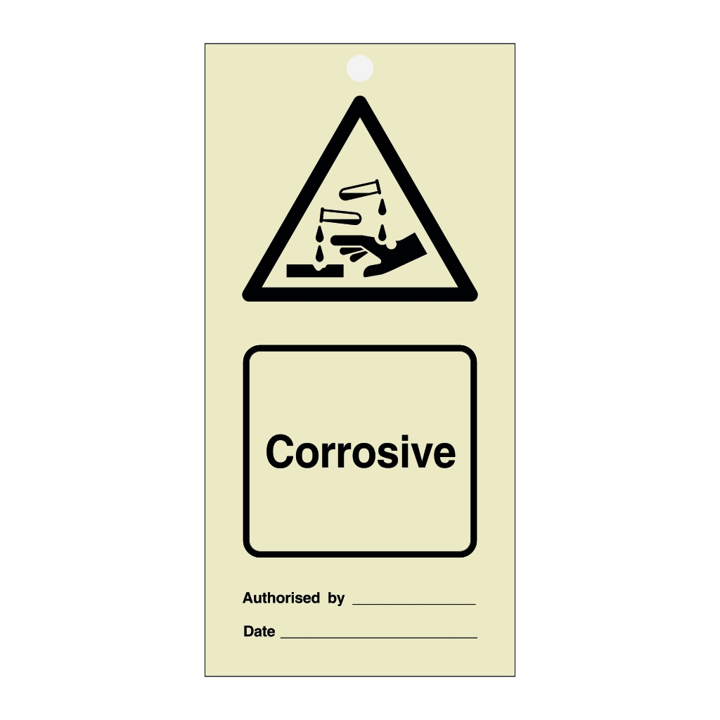 Corrosive Tie Tag Pack of 10 (Marine Sign)
