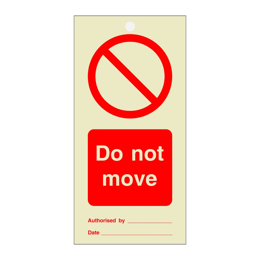 Do Not Move Tie Tag Pack of 10 (Marine Sign)