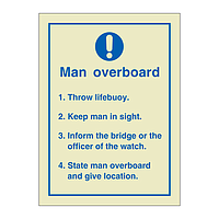 Man Overboard (Marine Sign)
