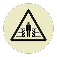 Crushing Hazard Sheet of 12 (Offshore Wind Sign)