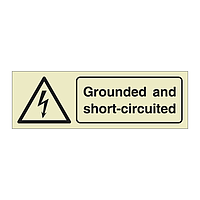 Ground and Short-Circuited with Text (Offshore Wind Sign)