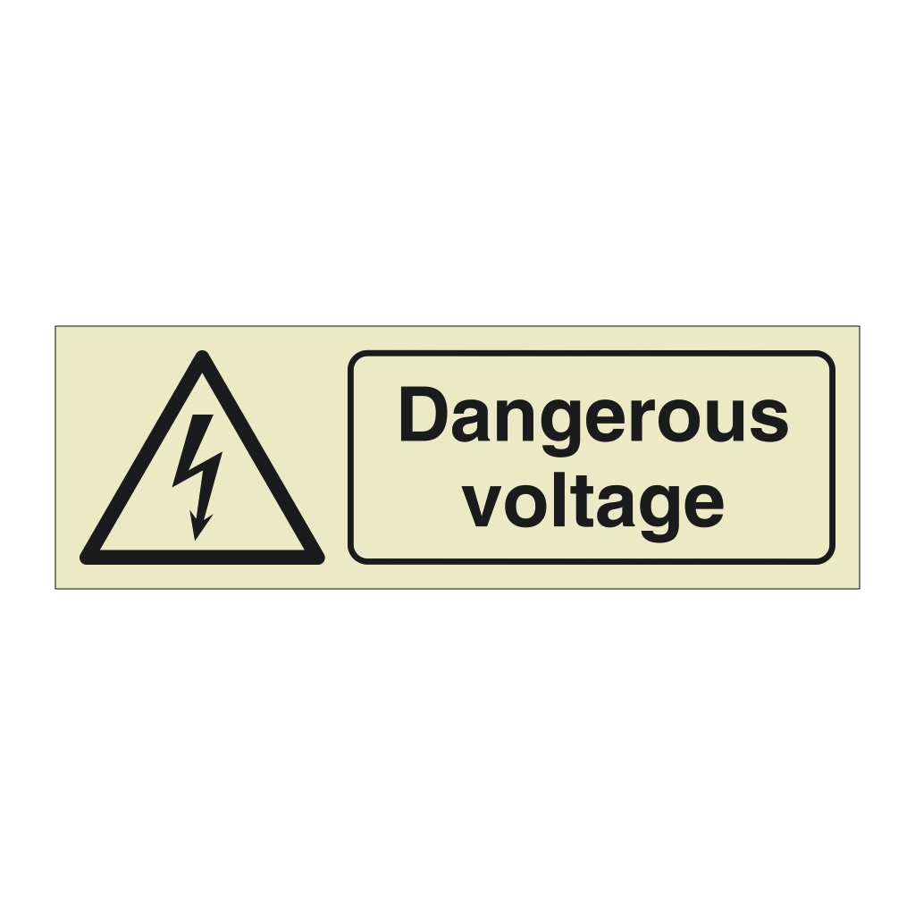 Dangerous Voltage with Text (Offshore Wind Sign)