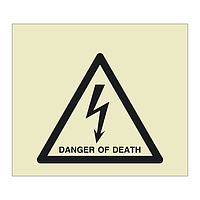 Danger of Death with Text (Offshore Wind Sign)