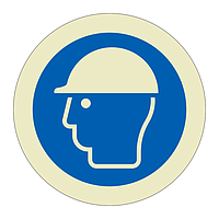Head Protection must be Worn Sheet of 12 (Offshore Wind Sign)