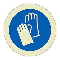 Hand Protection must be Worn Sheet of 12 (Offshore Wind Sign)