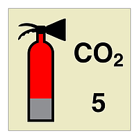 5kg CO2 Fire Extinguisher (Marine Sign)