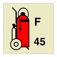 45L Wheeled Foam Fire Extinguisher (Marine Sign)