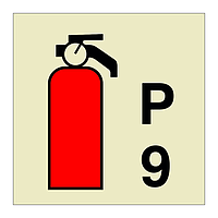 9kg Powder Fire Extinguisher  (Marine Sign)