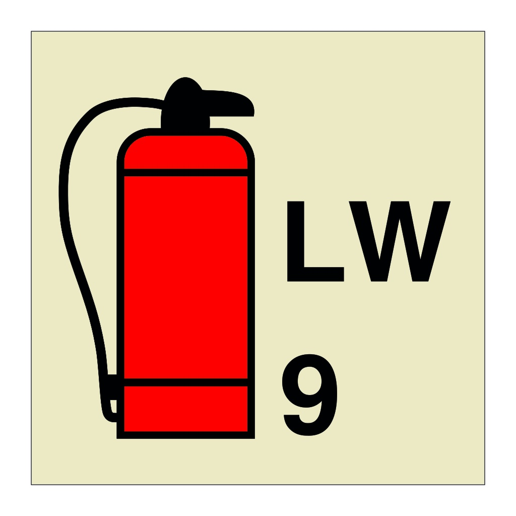 9L Foam Portable Fire Extinguisher (Marine Sign)