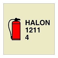 4kg Halon 1211 Portable Fire Extinguisher (Marine Sign)