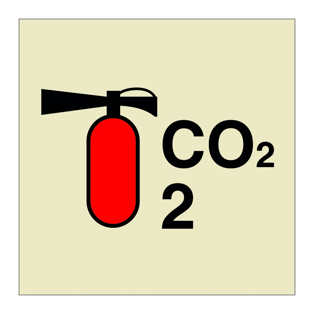 2kg CO2 Portable Fire Extinguisher (Marine Sign)
