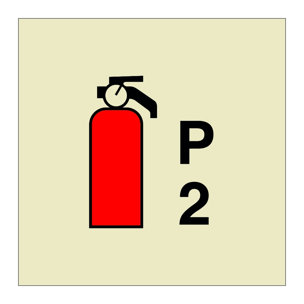 2kg Powder Fire Extinguisher (Marine Sign)