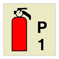 1kg Powder Fire Extinguisher (Marine Sign)