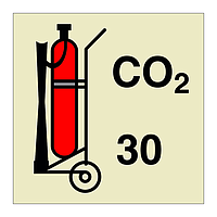 30kg Wheeled CO2 Fire Extinguisher (Marine Sign)