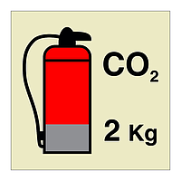 2kg CO2 Fire Extinguisher (Marine Sign)