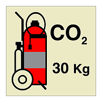 30kg CO2 Wheeled Fire Extinguisher (Marine Sign)