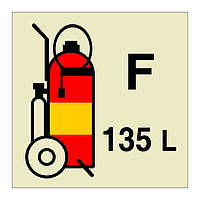135L Foam Fire Extinguisher (Marine Sign)