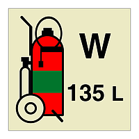 135L Wheeled Water Fire Extinguisher (Marine Sign)