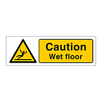 Caution Wet Floor (Marine Sign)