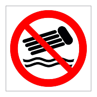 No Inflatables symbol sign