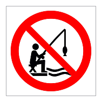 No Fishing symbol sign