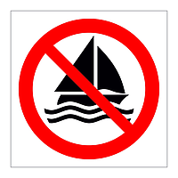 No Sailing symbol sign