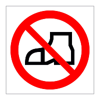 No Outdoor Footwear symbol sign