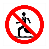 No Running symbol sign