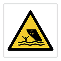 Boating area symbol sign