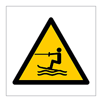 Towed Water Activity Area symbol sign