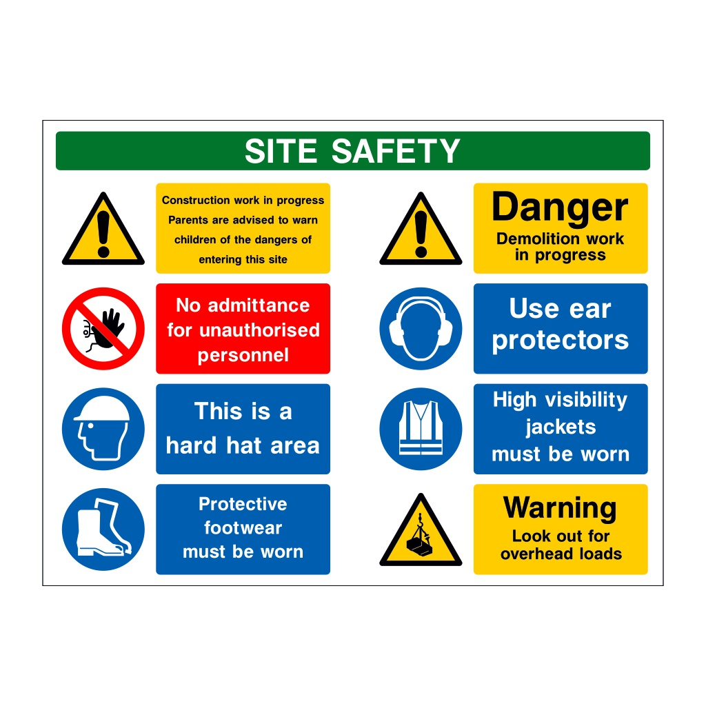 8 Multi-Message Site Safety Board