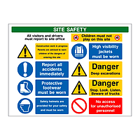 Multi-Message Site Safety Board