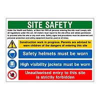 H&S Act V1 multi-message site safety board