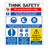 Think Safety Site Safety Board