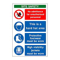 PPE V1 multi-message site safety board