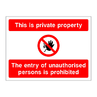 This is private property sign