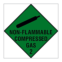 Non Flammable Compressed Gas Class 2 Hazard Warning Diamond sign