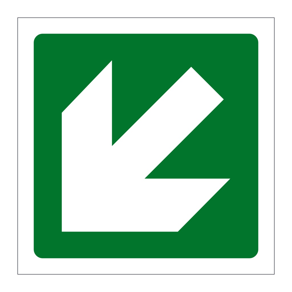 Directional Arrow Down left sign