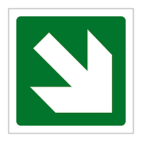 Directional Arrow Down right sign
