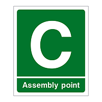 Assembly Point C sign