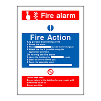 Fire Action & Fire Alarm Sign