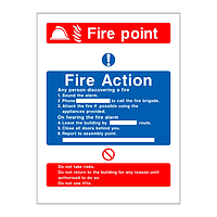 Fire Action & Fire Point Sign