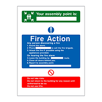 Fire Action & Assembly Point Sign