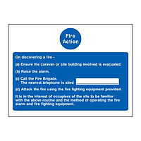 Fire Action Sign Points A-D