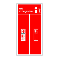 Carbon Dioxide fire extinguisher single location board