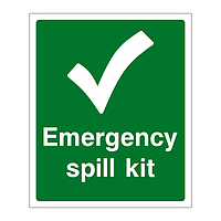 Emergency Spill Kit sign