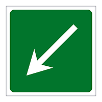 First Aid arrow down left sign