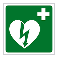 First Aid Defibrillator sign